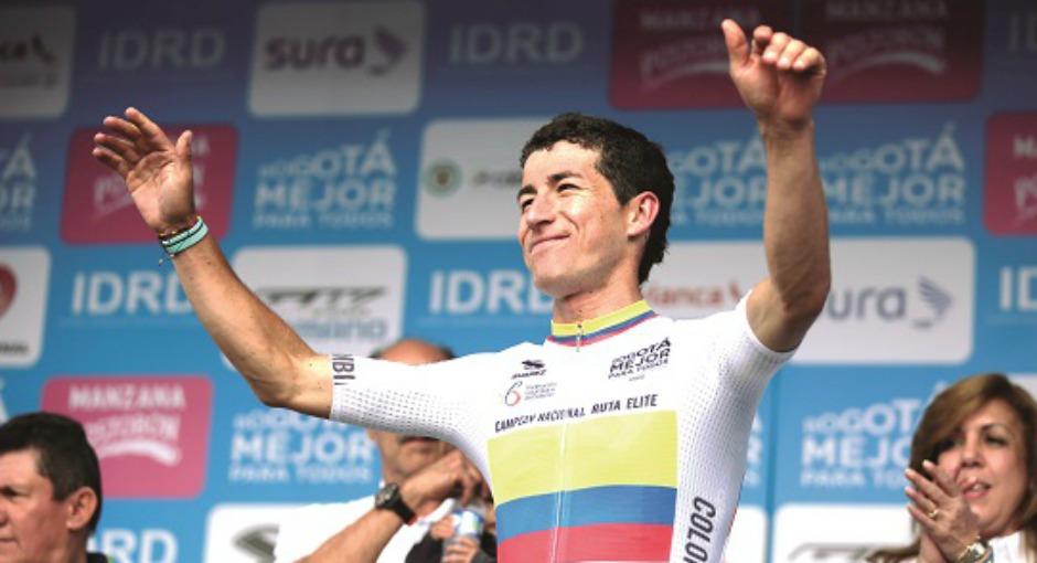 Bogotá. Febrero 26 2017. Carrera de élite en el Campeonato Nacional de Ciclismo de ruta. En la foto: Sergio Luis Henao. (Colprensa - Luisa González).