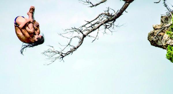 Mayo 29 de 2015. Tercera parada de la Serie Mundial Red Bull Cliff Diving en el Possum Kingdom Lake de Texas, en los Estados Unidos. En la foto: Orlando Duque. (Colprensa - Cortesía Red Bull)